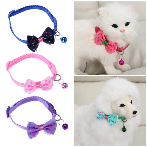 Durable Nylon Fabric cat Bowknot Necktie