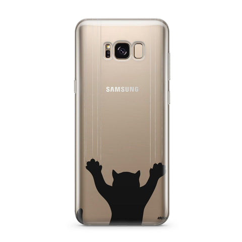 Scratchy Cat - Clear Case Cover for Samsung