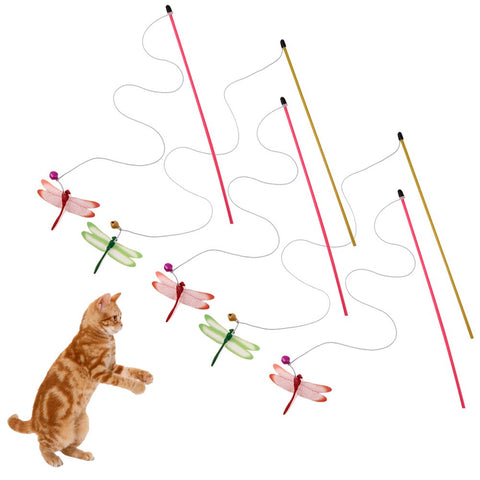 5Pcs Cat Toys Cat Teaser with Bell