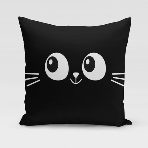 Cat Eyes & Whiskers Pillow Cover