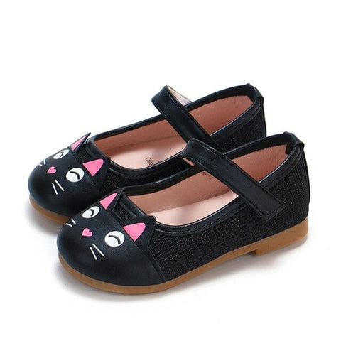 Cute Toddler Baby Girls Shoes Children Cartoon Cat