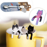Cute Cat Long Handle Hanging tea Spoon