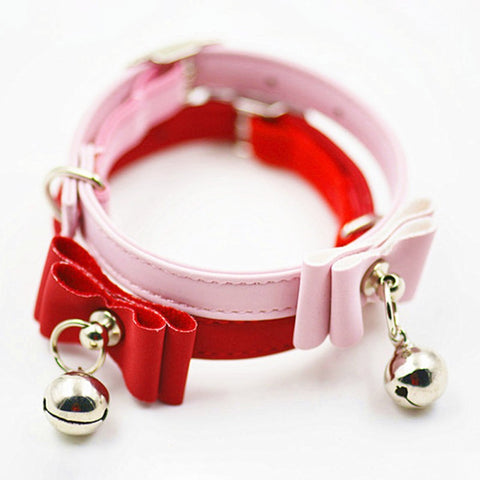 Bowtie  Cat Safety Collar Elastic With Bell