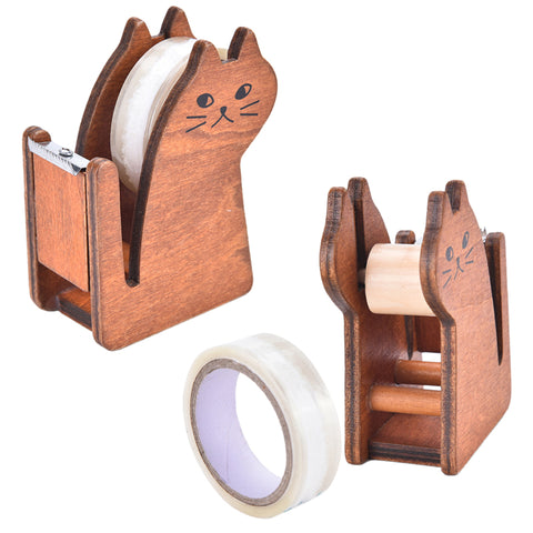 Office & School Supplies animal cat wooden tape