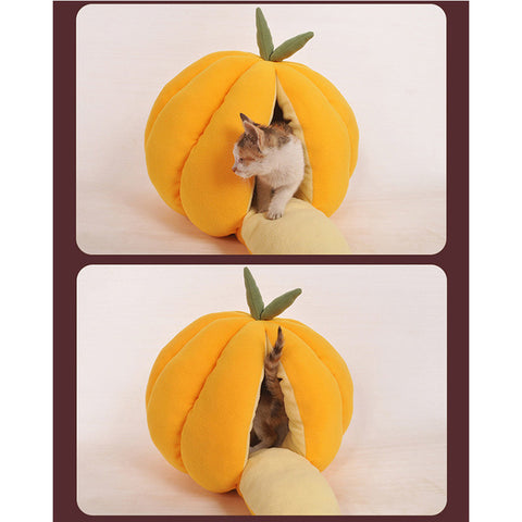 Pumpkin House Cat Bed