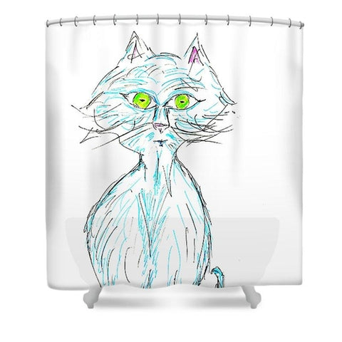 Cats Life Series - Blue Tabby - Shower Curtain