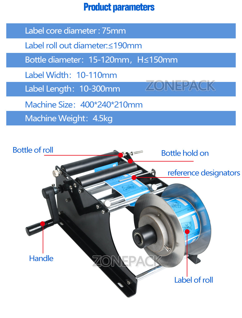 Office Products Office Electronics MT-30 Round Bottle Labeler 30 ...