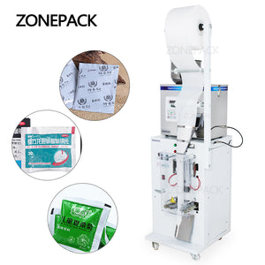 ZONEPACK Food Coffee Bean Grain Automatic Weighing Packaging Machine Powder Bag Three Side Seal Filling Machine With Date Printer