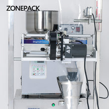 ZONEPACK Food Coffee Bean Grain Automatic Weighing Packaging Machine Powder Filling Machine Bag Back Side Seal With Date Printer