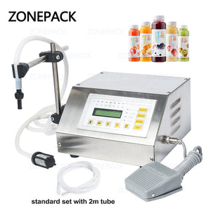 ZONEPACK 5-3500ml GFK-160 Accuracy Digital Liquid Filling Machine LCD Display Perfume Drink Water Alcohol Milk Filling Machine
