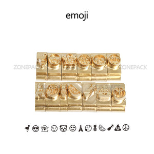 ZONEPACK Custom Logo Gift Alphabet Numbers Symbol Leather Stamping Cold Press Tool Brand Iron Custom Initial Mould Embossing Mold