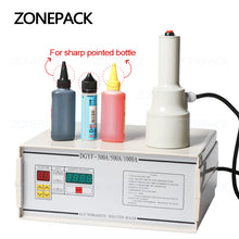 ZONEPACK FK-300 Small Diameter Aluminium Foil Film Sealing Machine For Medicine Sharp Pointed Bottle Plastic Dropper Bottle