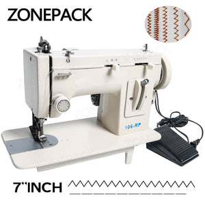 ZONEPACK 106-RP Household Sewing Machine Fur Leather Fell Clothes Thick Sewing Tool Thick Fabric Material Reverse ZIG ZAG Stitch