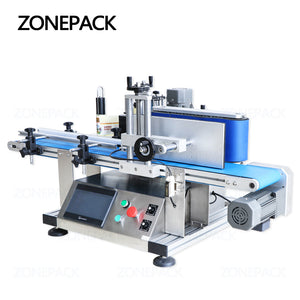 ZONEPACK Automatic Round Bottle Labeling Machine Adhesive Sticker Labeler Cans Alcohol Disinfectant Wine Bottle Label Applicator