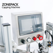 ZONEPACK Automatic Pump Spray Beverage Bottle Capping Machine with Vibratory Cap Feeder for Production Line