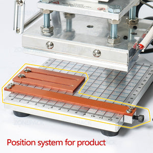 ZONEPACK Hot Foil Stamping Machine Accessory Spare Parts Position Holder Foil Roll Holder T-Slot Workbench Heating Element