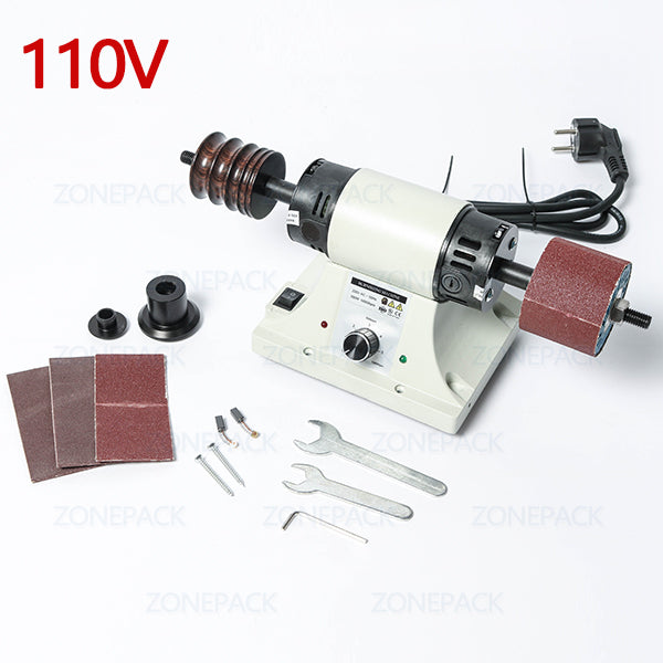 ZONEPACK Vegetable Tanned Leather Burnishing Machine Mini Desktop Leather Edge Grinding Machine Polishing Tool Side Polisher