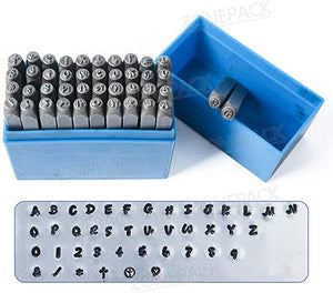 ZONEPACK Metal Letter And Number Set (36 pieces/set, A to Z and 0-9) Stamping Tools