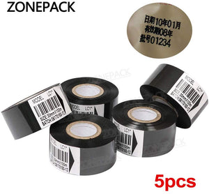 ZONEPACK Thermal Ribbon of Ribbon Printing Machine for Plastic and Paper 30mm*100m