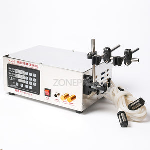 ZONEPACK 3.5L Water Liquid Filling Machine, Double Head, Microcomputer Automatic, With Medicine Chemical Self-priming Thermal Protection