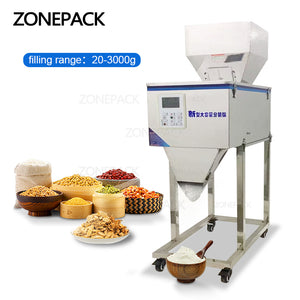 ZONEPACK 3000g Food Racking Machine Granular Powder Materials Weighing Packing Machine Filling Machine For Seeds Coffee Bean