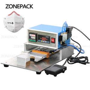 ZONEPACK N95 Mask Nose Bridge Line Bonding Machine Semi-automatic Hot Melt Aluminum Strip Welding Machine Mask Making Machine