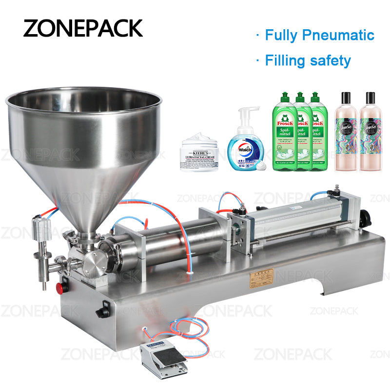 ZONEPACK Fully Pneumatic Disinfectant Sprays Alcohol Hand Sanitizer Clean Gel Liquid Soap Bottle Dispenser Filling Machine