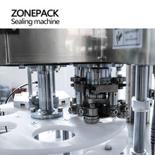 ZONEPACK Tin Aluminum Can Food Fruit Glasses Screw Plugging Tinplate Cover Automatic Capping Machines Sealing Packing Machines