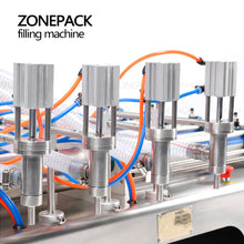 ZONEPACK Fully Pneumatic Filling Machine Bottle Dispenser Filling Machine Food Beverage Machinery Bottle Water Making Machines