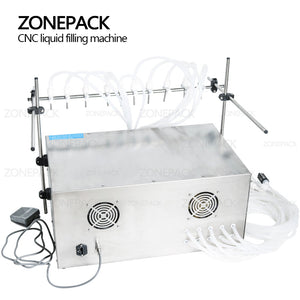 ZONEPACK Electric Digital Control Pump Liquid Filling Machine Perfume water Juice Essential Oil With 10 Heads
