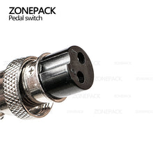 ZONEPACKThe pedal switch TFS-201 Foot Switch Pedal Switch With Self Reset Line 1.4m Cable Length for Electric Filling Machine