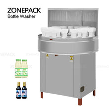 ZONESUN ZS-WB32 Milk Rotary Wine Plastic Small Semi Automatic Pet Recycle Glass Bottle Washing Machine Packaging Machine