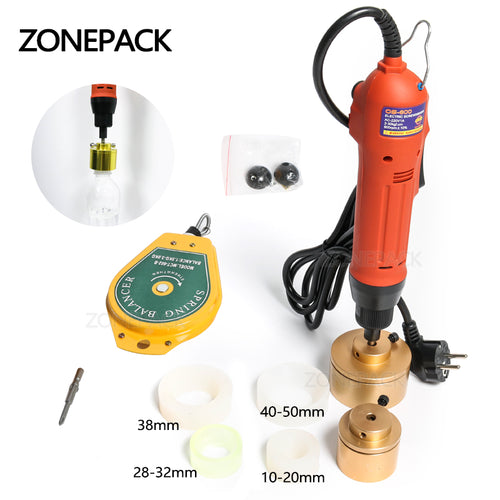 ZONEPACK 28-32mm Plastic Bottle Capper Portable Automatic Electric Capping Machine Cap Screwing Machine Electric Sealing Machine