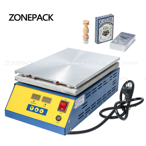 ZONEPACK Cellophane Wrapping Machine Poker Box Cigarettes Perfume Cosmetics BOPP Film PVC Sealable Film Sealing Packaging Machine