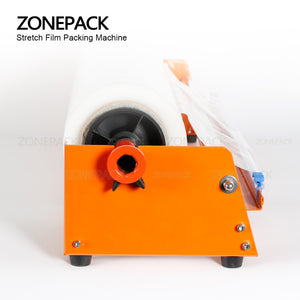 ZONEPACK Manual Stretch Film Wrapping Machine Dispenser Tools Pallet Packing Equipment Film Package Machinery