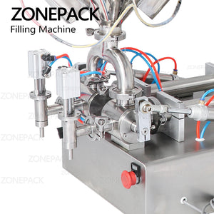 ZONEPACK Mixing with Heater Filler Arequipe Viscous Liquid Paste Chocolate Sauce Alcohol Gel Equipment Bottle Filling Machine