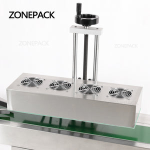 ZONEPACK Vertical Sealing Machine Electromagnetic Continuous Induction Aluminum Foil Sealing Machine Induction Automatic Sealer