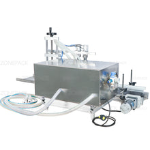 ZONEPCK ZS-DTDP20-2 Automatic Big Flow Double Heads Liquid Beverage Shampoo Gel Filling Machine Diaphragm Pump Bottle Filler