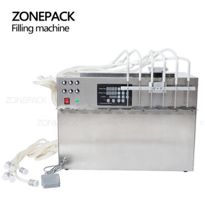 ZONEPACK 6 Heads Self-priming Beverage Bag Liquid Filling Machine Digital Control Compact Precise Numerical Filling Machine