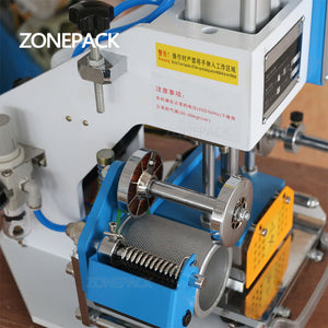 ZONEPACK ZY-819-A 80*90mm Pneumatic Stamping Machine leather Branding Iron LOGO Personality Individuality Card Hot Foil Machine