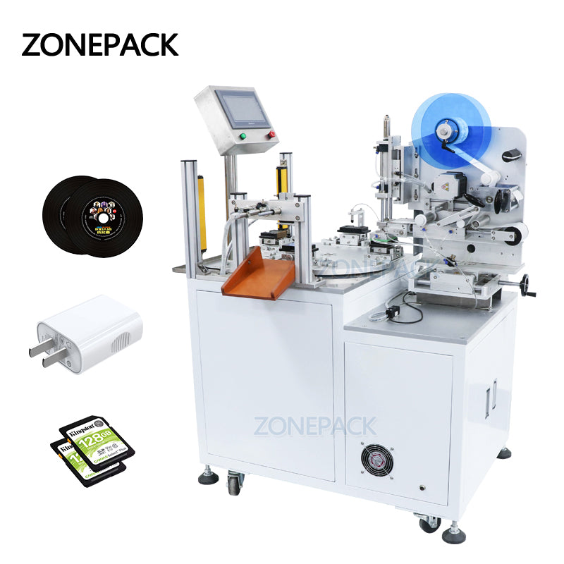 ZONEPACK ZS-TB606 Semi Automated Price Packaging Labeling Sticker Machine Label Dispenser Machine Applicator Transparent Benchtop