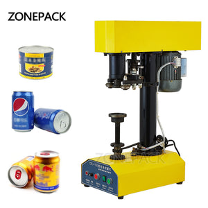 ZONEPACK 39-150mm Canned Food Beer Plastic Seamer Tinplate Can Sealing Machine Ring-pull Can Circular Capsuling Capping Machine