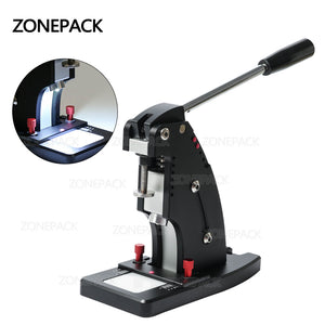 ZONEPACK Manual Leather Punching Machine Hand Pressing Machine For Round Hole Puncher Leather Edge Punching Chisel Stitching Tool
