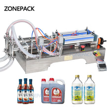 ZONEPACK Double Heads Fully Pneumatic Liquid Filling Machine Bottle Dispenser Filler for Hand Sanitizer Hand Gel Disinfectant Sprays Alcohol