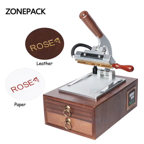 ZONEPACK Bags Logo Leather Heat Press Machine Plastic Wood Paper Card Digital Hot Gold Foil Stamping Machine For Letter Stamp