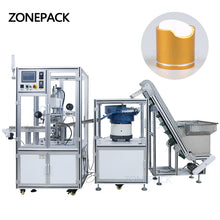 ZONEPACK ZS-819-R4 Automatic Sheet Feed Heat Press Machine Bottle Cap Hot Foil Stamping Machine Manufacturer For Sale