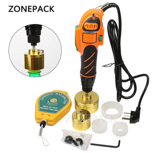 ZONEPACK 160W 110/220V Hand Held Bottle Capping Tool Plastic Bottle Capping 10-50mm Cap Screw Capping machine 64kg/fcm manual capper