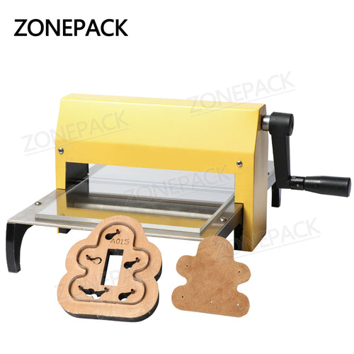 ZONEPACK Manual Leather Die Cutting Machine Handmade Earring Die Cuts Embossing Machine For Punching Clicker Die Steel Rule Die