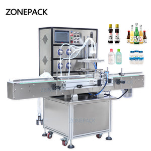 ZONEPACK Magnetic Pump Aerosol Soda Bottled Automatic Packing Bottle water wine Drink Perfume Filling Machine Filler
