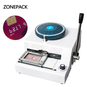 ZONEPACK DIY 72 Letter Press Character PVC Card Embosser Stamping Machine Printer Credit ID VIP Magnetic Embossing Tool